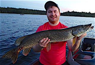 Fishing for BIG Pike is Great at Fireside Lodge